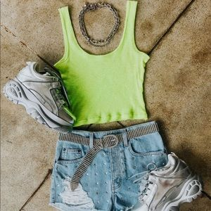 Neon green tank from Lf